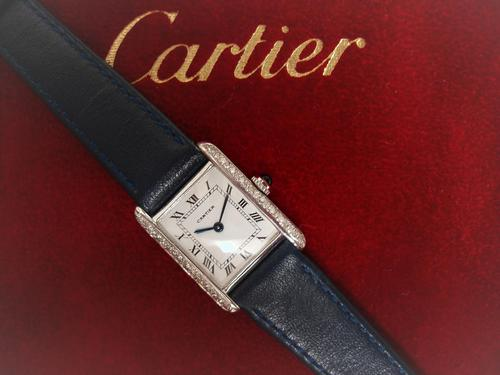 Cartier Diamond Wristwatch (1 of 5)