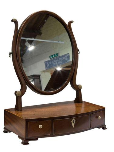 Georgian Oval Mahogany Dressing Table Mirror (1 of 8)