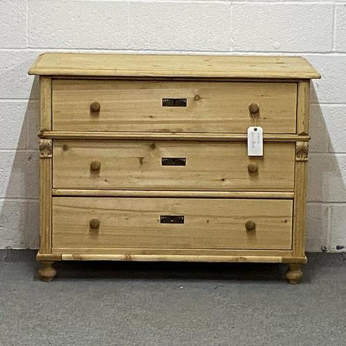 Large Old Pine Chest Of Drawers (1 of 4)