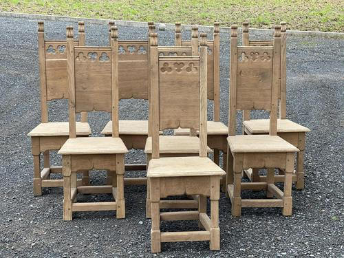 Set 8 Oak Farmhouse Dining Chairs (1 of 14)