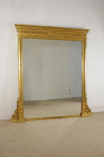 Victorian Neoclassical Style Overmantle Mirror (1 of 10)