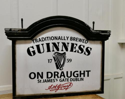 Traditional Large Guiness Hanging Pub Light 1950s (1 of 6)