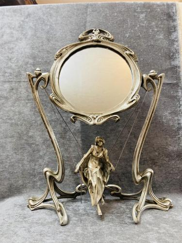 French Art Nouveau Mirror (1 of 13)