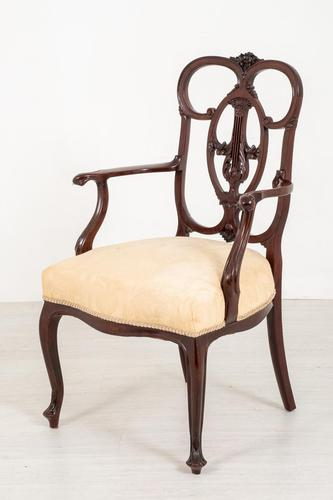 Elegant Mahogany Chippendale Style Carver Chair (1 of 7)