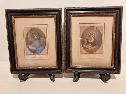 Pair of Stiple Engravings of Oval Portraits, 1786 (1 of 5)