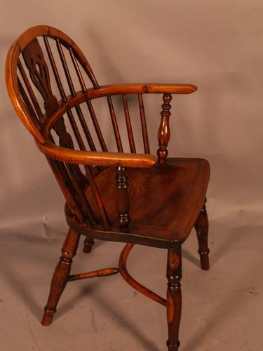 Yew Wood Low Back Windsor Chair Rockley Maker (1 of 10)