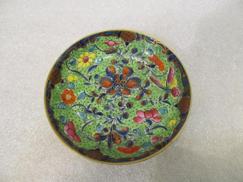 An 18th Century Polychrome Worcester Dish (1 of 3)