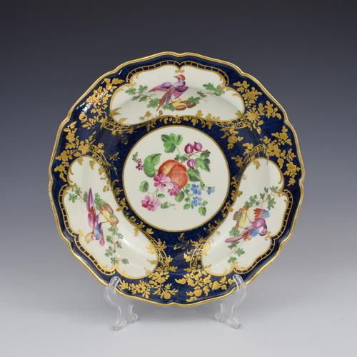 First Period Worcester Porcelain James Giles Lady Mary Wortley Montagu Soup Plate (1 of 8)