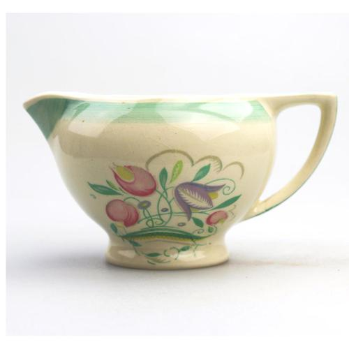 Susie Cooper - Good Art Pottery Dresden Spray Rex Milk / Gravy Jug 1932 (1 of 8)