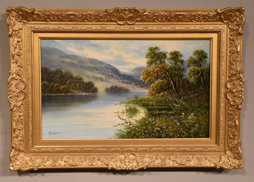 """Oil Painting by M.C Hider """"A Highland Loch"""" (1 of 5)"""