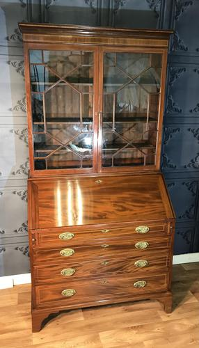 Georgian Mahogany Bureau Bookcase (1 of 17)