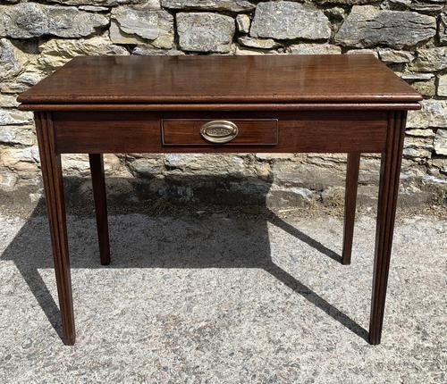 Antique Georgian Mahogany Fold Over Tea Table (1 of 27)