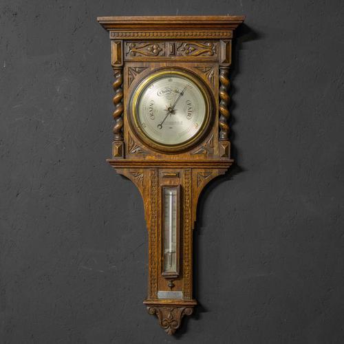 Oak Aneroid Barometer (1 of 8)