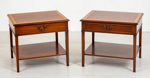 Pair of Georgian Style Mahogany End Tables (1 of 8)