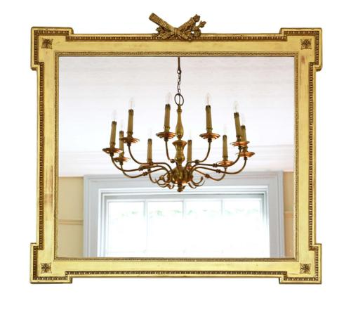 Large Gilt 19th Century Overmantle or Wall Mirror (1 of 7)