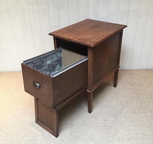 Unusual Oak Filing Cabinet (1 of 10)