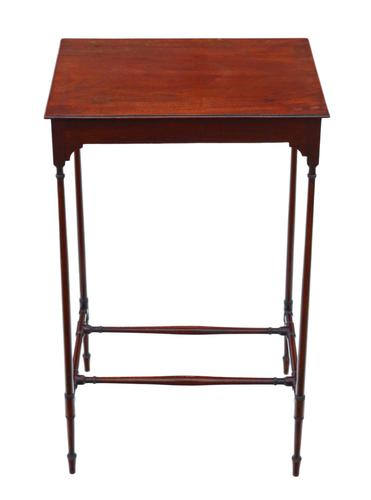 19th Century Mahogany Occasional Side Table (1 of 5)