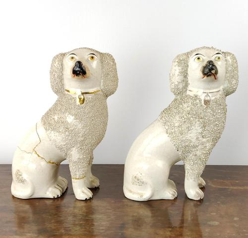 Two Decorative 19th Century Staffordshire Poodles (1 of 9)