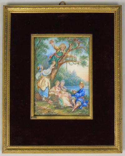 Beautiful Miniature Painting after Boucher 'Birding' (1 of 6)