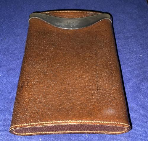 Leather & Silver Cigar Case (1 of 4)