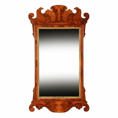 Georgian Style Burr Walnut Mirror (1 of 8)