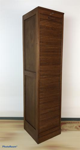 Antique French Tall Filing Cabinet Tambour Roller Shutter (1 of 10)
