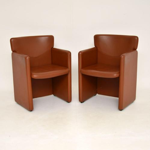 1970's Pair of Vintage Leather Armchairs (1 of 7)