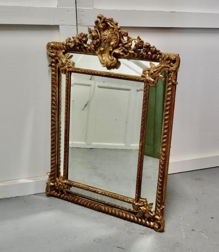 Stunning Napoleon III French Cushion Mirror (1 of 7)