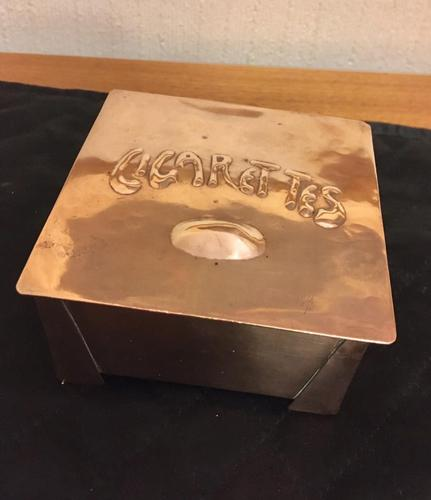 Arts & Crafts Copper Cigarette Box (1 of 8)