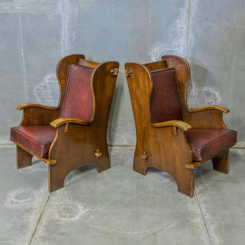Pair of Elm Lambing Chairs (1 of 8)