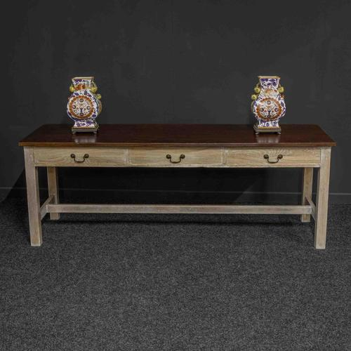 Country Style Three Drawer Dining Table (1 of 10)