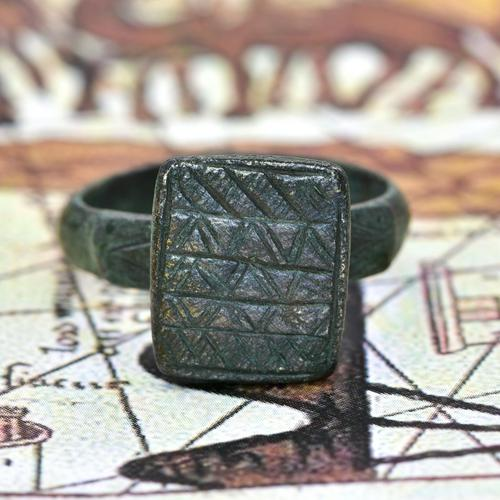 The Ancient Medieval Bronze Mountain Traveller's Ring (1 of 4)
