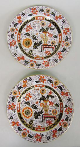 Decorative Pair of 19th Century Ironstone Plates G L Ashworth (1 of 6)