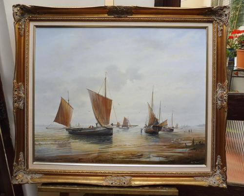 Large Oil on Canvas Marine Seascape Listed Artist Bill Haines (1 of 13)
