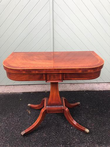 Quality Inlaid Mahogany Fold Over Games Table (1 of 12)