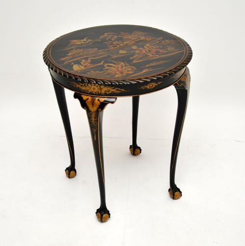 Antique Lacquered Chinoiserie Occasional Table (1 of 12)