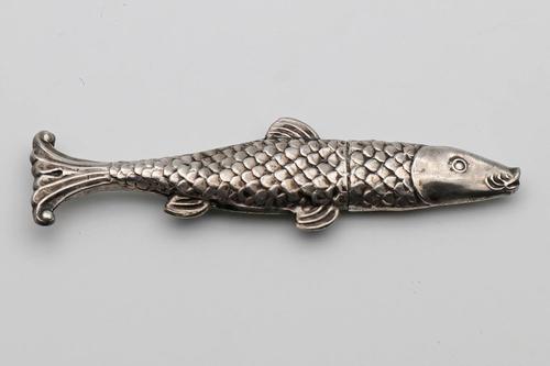 Rare German Silver Novelty Needle Case c.1850 (1 of 2)