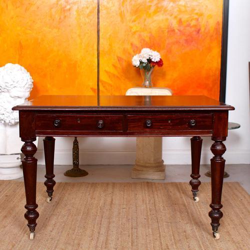 Desk Writing Table Mahogany 19th Century Victorian (1 of 11)