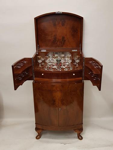 Art Deco Walnut Drinks Cabinet (1 of 8)