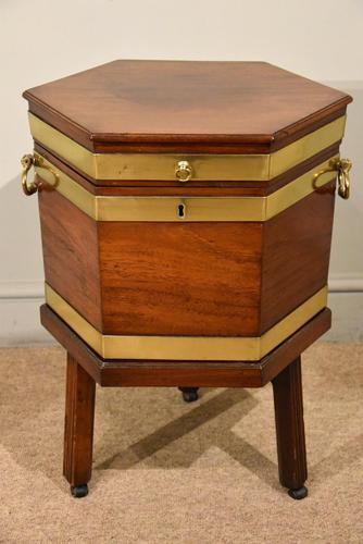 George III Octagonal Wine Cooler on Stand (1 of 6)