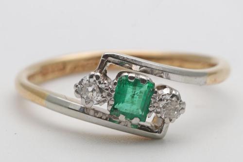 1930s 18ct Platinum Ring Art Deco (1 of 3)