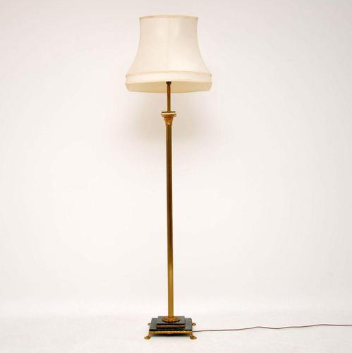 Antique Italian Gilt Metal & Marble Floor Lamp (1 of 6)