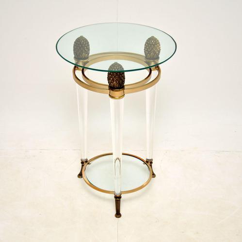 Italian Vintage Glass & Acrylic Side Table (1 of 6)