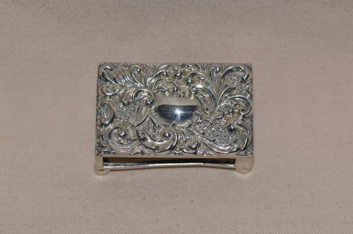 Solid Silver Matchbox Holder by Adie & Lovekin Ltd c.1900-1910 (1 of 4)