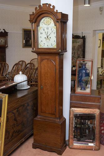 Stalham Made Oak Long Case Clock (1 of 4)