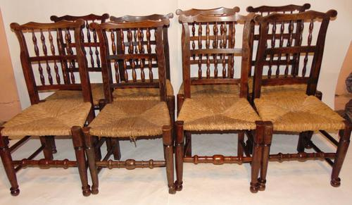 Set Of Lancashire Ladder Back Dining Chairs (1 of 7)