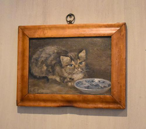 Charming Oil Painting of a Cat (1 of 7)