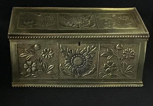 Aesthetic Movement Brass Repousse Box (1 of 7)