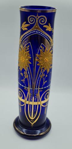 Antique Bohemian Glass Vase (1 of 9)