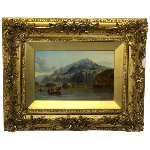 """19th Century Oil Painting """"Bonnie Prince Charlie Crossing To Skye"""" Clarkson Frederick Stanfield RA RBA 1793-1867 (1 of 27)"""